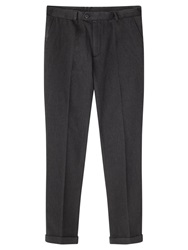 Jigsaw Cotton Pique Trousers Grey