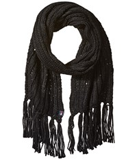 Tommy Hilfiger Chunky Beaded Border Scarf Black Scarves
