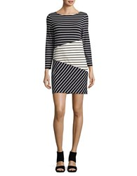 French Connection Tim Tim Colorblock Dress Black