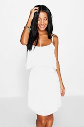 Boohoo Open Back Sundress White