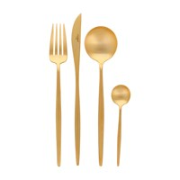 Cutipol Moon Matt Gold Cutlery Set 24 Piece