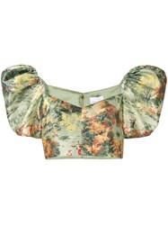 Alice Mccall Forest Print Puff Sleeve Top 60
