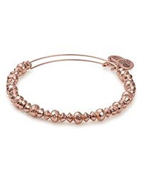 Alex And Ani Faceted Bead Charm Bangle Rose