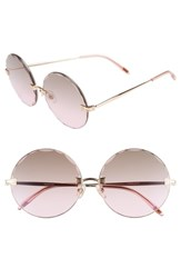 Wildfox Couture Starlight 62Mm Oversize Round Sunglasses Rose Gold Brown Rose Gradient Rose Gold Brown Rose Gradient
