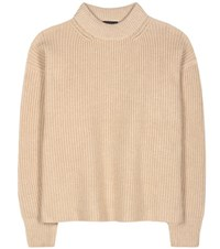 The Row Delia Baby Camel Sweater Neutrals