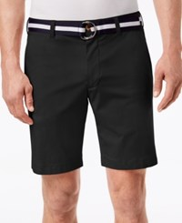 Club Room Men's Classic Fit Stretch Shorts Created For Macy's Deep Black