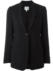 Armani Collezioni Single Breasted Blazer Black