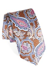 Nordstrom Men's Men's Shop Paisley Silk Tie Brown