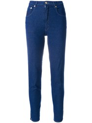 Moschino Vintage Cropped Jeans Blue