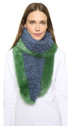 Shrimps Moss Scarf Grass Green Blue Grey