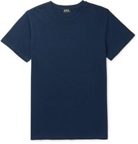 A.P.C. Jimmy Cotton Jersey T Shirt Navy