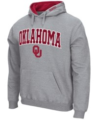 Colosseum Men's Oklahoma Sooners Arch Logo Hoodie Gray