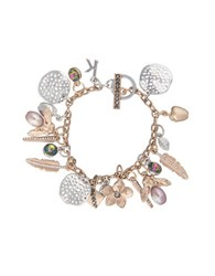 Kensie Flora And Fauna Two Tone Charm Cluster Bracelet
