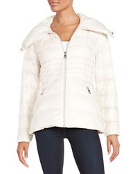 Karl Lagerfeld Fitted Puffer Jacket White