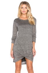 Dolan Knot Front Mini Dress Gray