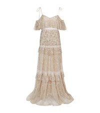 Needle And Thread Supernova Embellished Gown Female Neutral