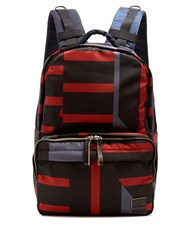 Marni X Porter Block Print Backpack Grey Multi