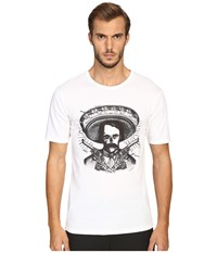 The Kooples Graphic Crew Neck T Shirt White
