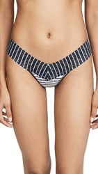 Hanky Panky Inside Out Stripe Low Rise Thong Multi