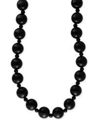 Effy Collection Eclipse By Effy Onyx 12 And 4Mm Bead Statement Necklace In 14K Gold Black