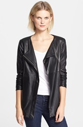 Veda 'Robinson' Long Leather Jacket Black