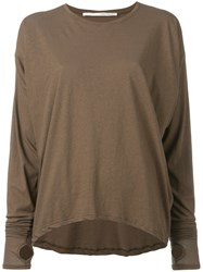 Isabel Benenato Knitted Sweater Brown