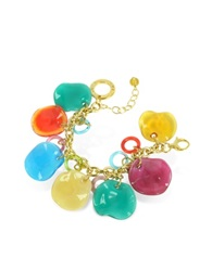 Antica Murrina Veneziana Shiva Murano Glass Charm Bracelet Multicolor