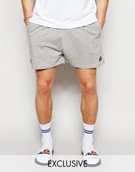 Ellesse Retro Jersey Shorts With Taping Grey