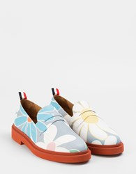 Thom Browne Floral Loafers Blue Multi