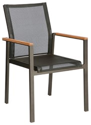 Barlow Tyrie Aura Armchair Graphite 01 Frame Charcoal 500 Sling Black