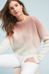 Anthropologie Dip Dyed Pullover Pink