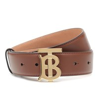 Burberry Tb Leather Belt Brown