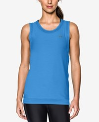 Under Armour Sport Heathered Muscle Tank Top Mediterranean