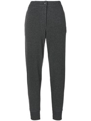 Jo No Fui High Waisted Track Pants Cotton Polyamide Polyester Glass M Grey