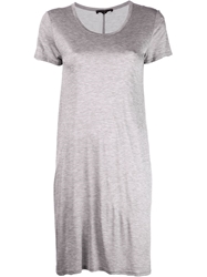 The Row 'Flora' T Shirt Dress Grey