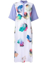 Romance Was Born Ultra Violet 'Falling Plumes' Dress White
