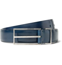 Maison Martin Margiela 3Cm Blue Leather Belt Blue