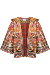 Camilla Quilted Printed Cotton Hooded Jacket Multi