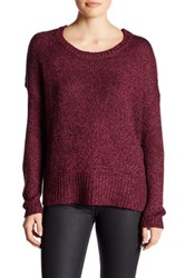 Research And Design Long Sleeve Hi Lo Hem Sweater Red
