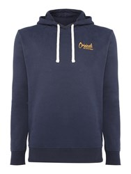 Jack And Jones Men's Hooded Cotton Sweatshirt Navy