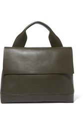 Marni City Pod Leather Tote Army Green