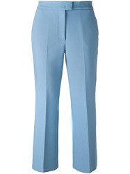 Msgm Cropped Trousers Blue