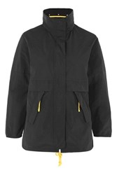 Topshop Retro Sports Cagoule Black