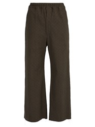 By Walid Jacques Raw Edge Cotton Trousers Grey