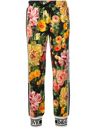 Dolce And Gabbana Floral Print Track Trousers Yellow