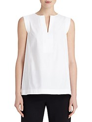 Lafayette 148 New York Hillary Sleeveless Top White