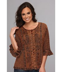 Scully Honey Creek Cherie Blouse Copper Women's Blouse Bronze