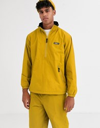 Obey Attitude Overhead Jacket In Yellow