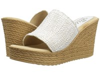Sbicca Mary White Women's Wedge Shoes