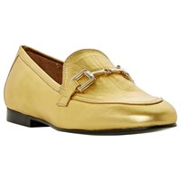 Dune Guru Buckle Loafers Gold Metallic